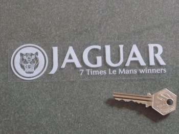 "Jaguar 7 Times Le Mans Winners Window Sticker. 6.5""."