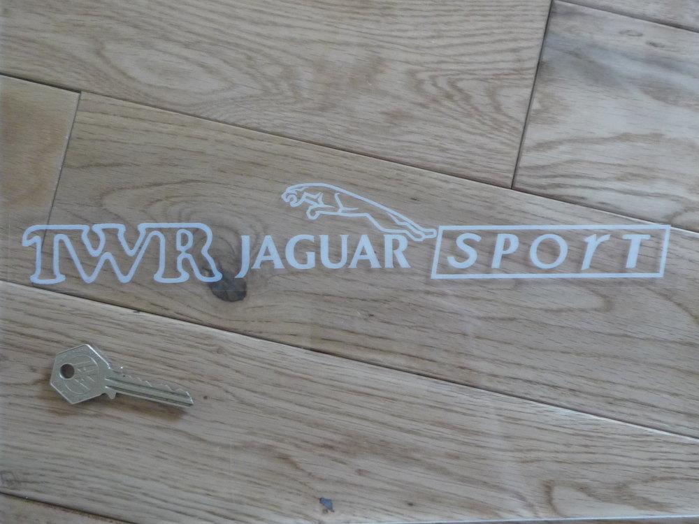 """TWR Jaguar Sport Oblong Window Sticker. 12""""."""
