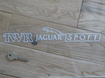 "TWR Jaguar Sport Oblong Window Sticker. 12""."