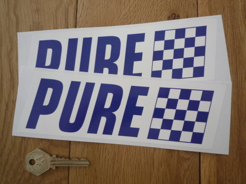 Pure Blue & White Slanted Oblong Stickers. 8