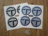 Talbot Wheel Centre Stickers. Set of 4. 50mm.