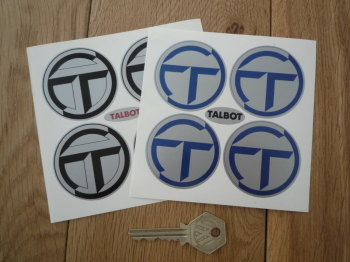 Talbot Wheel Centre Stickers. Set of 4. 50mm.