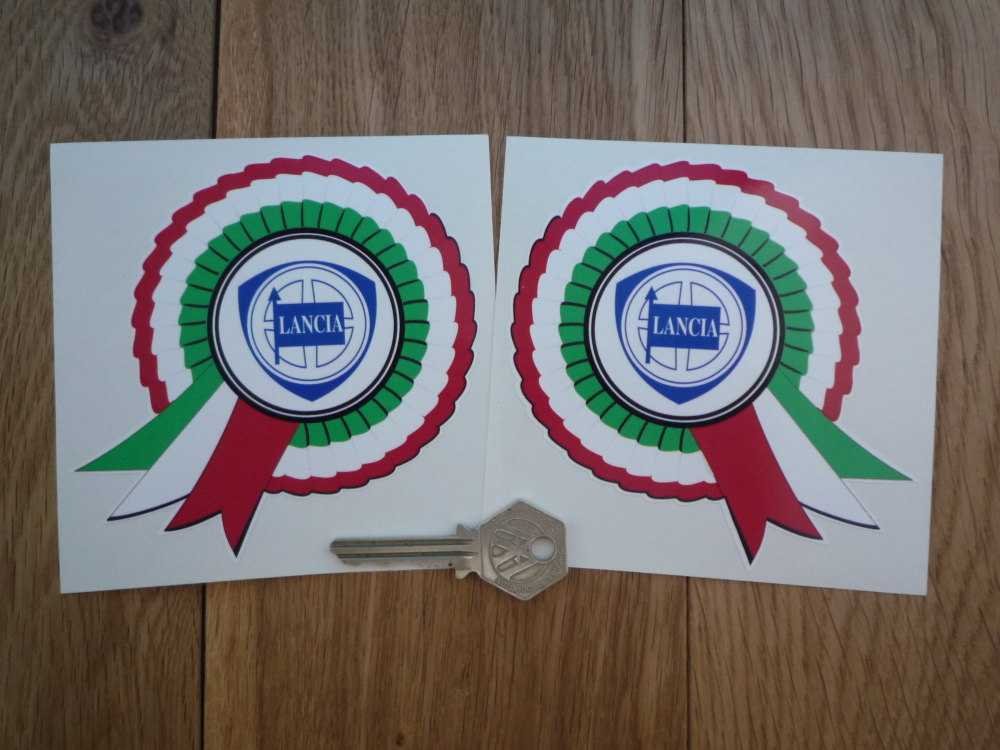 Lancia Shield Rosette Stickers. Handed 4