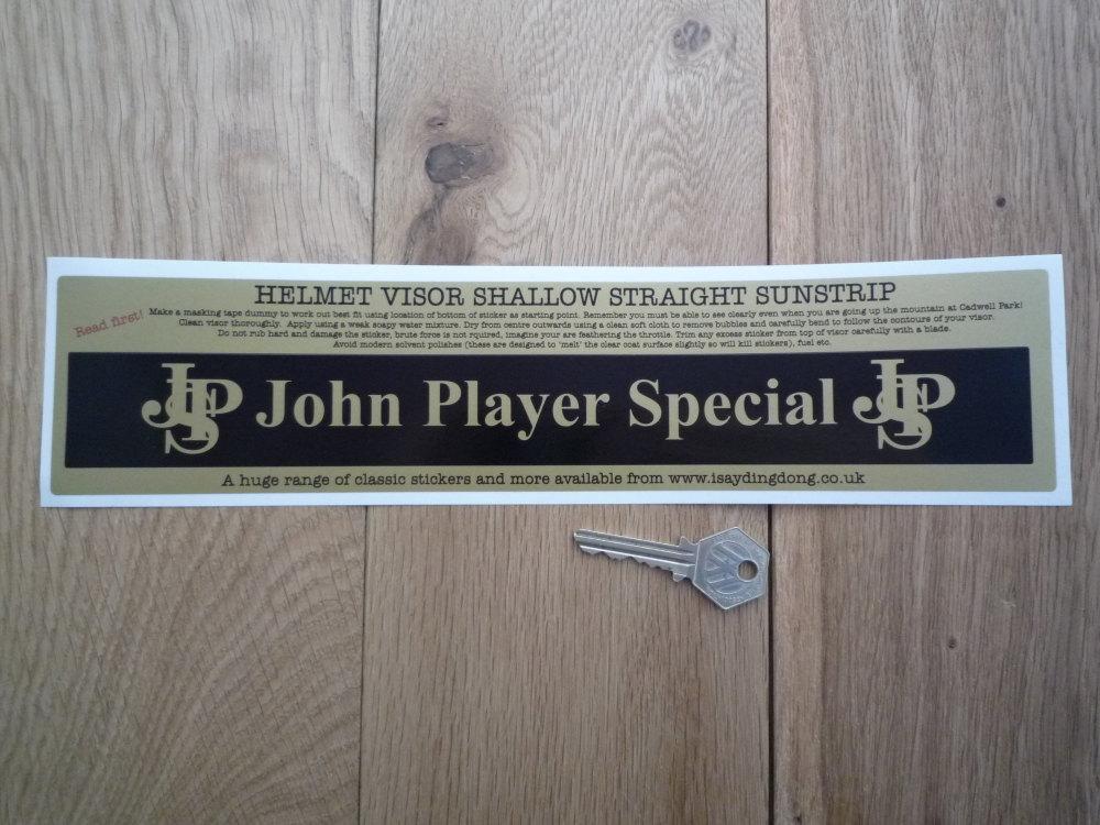 "John Player Special JPS Straight & Shallow Helmet Visor Sunstrip Sticker. 12""."
