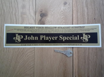 "John Player Special JPS Straight & Shallow Helmet Visor Sunstrip Sticker. 12""."