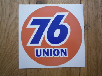 "Union 76 Circular 'Union' Orange Sticker. 9"" or 12""."