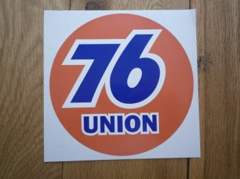 "Union 76 Circular 'Union' Orange Sticker. 9"" or 12""."