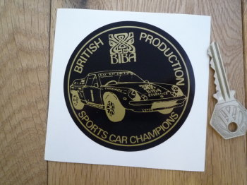 Lotus British Production Sports Car Champions JPS Biba Sticker. 85mm.