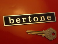 "Bertone Oblong Laser Cut Self Adhesive Car Badge. 4.25""."