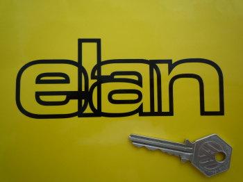 "Lotus Elan Outline Style Cut Text Sticker. 5""."