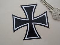 Iron Cross Shaped Black & White Sticker. 3