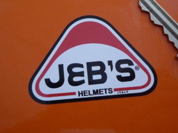 "JEB's Helmets Rounded Triangle Sticker. 2.25""."