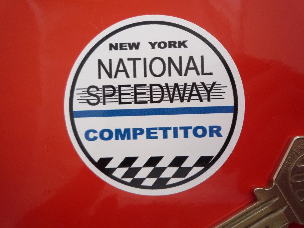 "National Speedway Competitor Circular Sticker. 2""."
