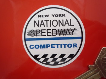 "National Speedway Competitor Circular Sticker. 2""."
