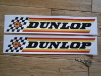 "Dunlop Check & Stripes Style B Stickers. 13"" Pair."