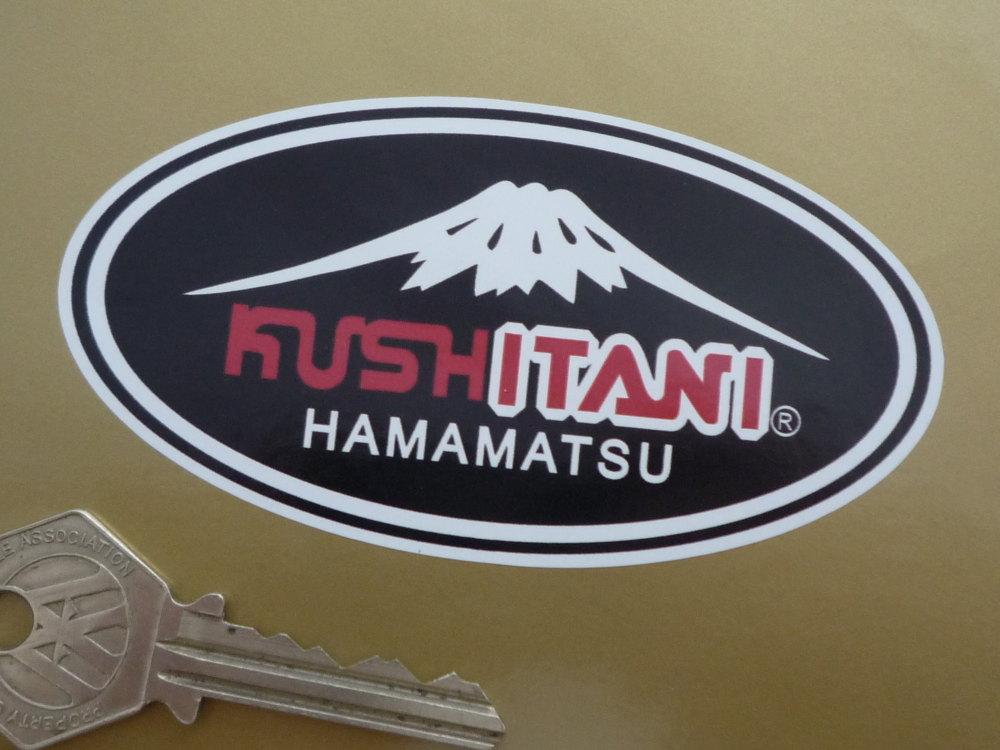 """Kushitani Hamamatsu Oval Sticker. 4"""" or 6.5""""."""