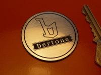 Bertone Plain Circular Laser Cut Self Adhesive Car Badge. 45mm or 70mm.