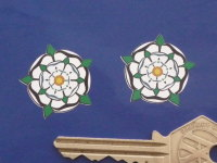 Yorkshire White Rose Shaped Stickers. 1