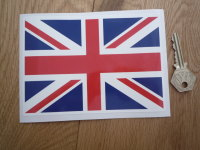 "Union Jack Full Colour Static Cling Window Sticker. 4"", 6"" or 8""."