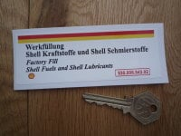 "Shell Fuels & Lubricants Sticker. 930.006.543.02. Engine Bay. 4.5""."