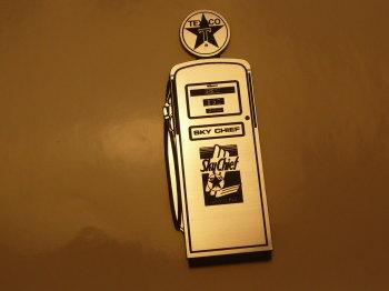 "Texaco Petrol Pump Style Laser Cut Magnet. 4.25"""