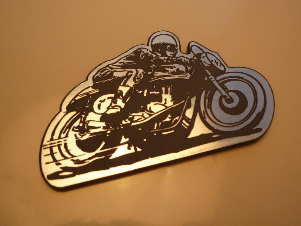 "Classic Bike Racer Style Laser Cut Magnet. 2.5"""