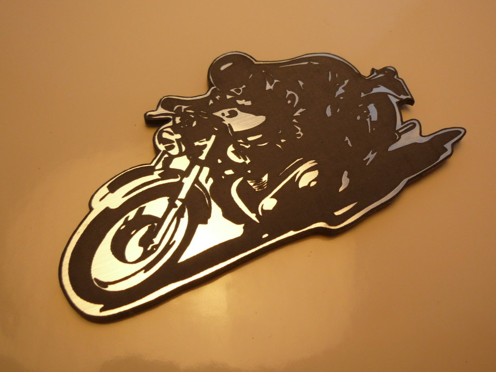 """Classic Cafe Racer Motorcycle Style Laser Cut Magnet. 3"""""""