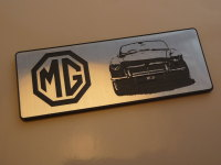 MG MGB Oblong Style Laser Cut Magnet. 3""