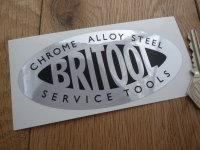 Britool Service Tools Black & Foil Oval Sticker. 4.75