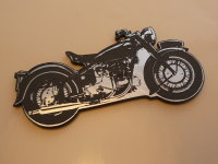 Sunbeam S7 Motorcycle Style Laser Cut Magnet. 3""