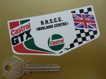 "Castrol GTX & BRSCC British Racing & Sports Car Midland Centre Sticker. 4""."