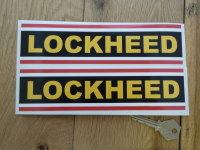 Lockheed Striped Oblong Stickers. 6