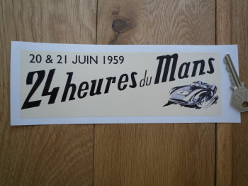 "24 Heures Du Mans 1959 LeMans Le Mans Oblong Sticker. 8""."