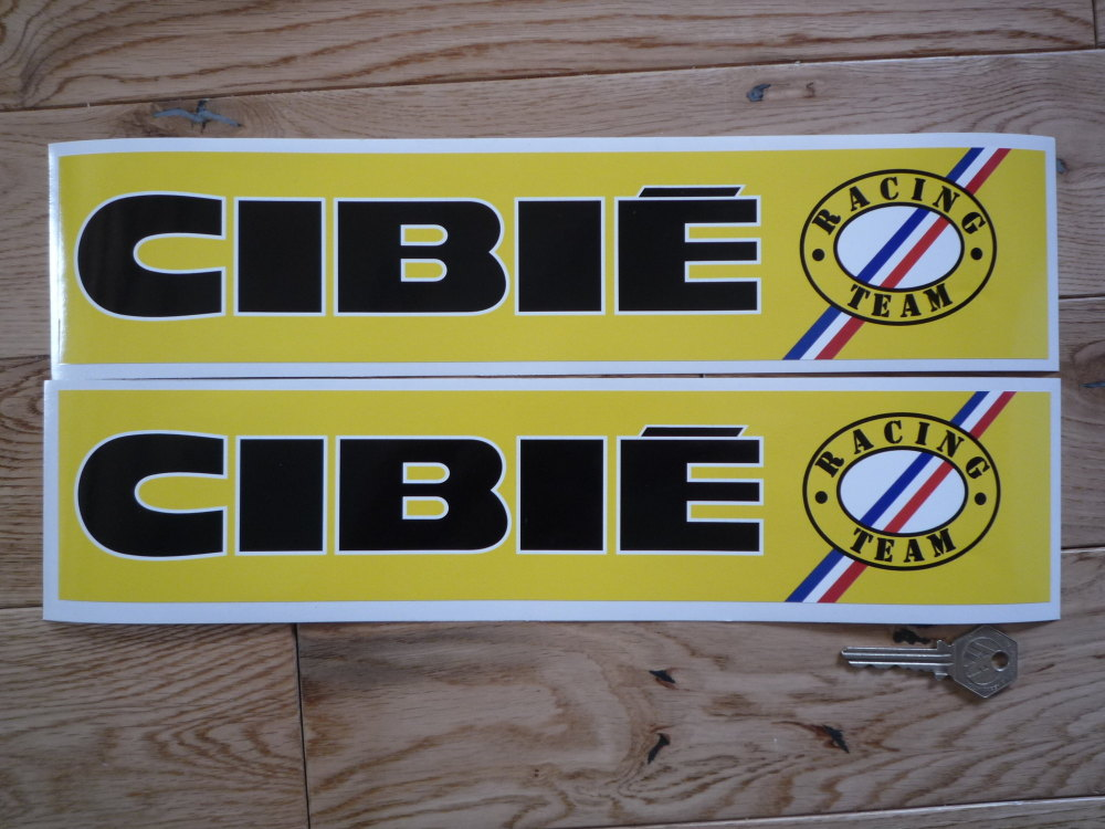Cibie Racing Team Logo on Right Wide Stickers. 14