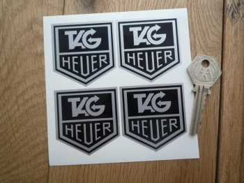 "Tag Heuer Monochrome Stickers. Set of 4. 2""."