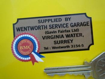 """BMC Wentworth Service Garage Surrey  Dealers Sticker. 2.75""""."""
