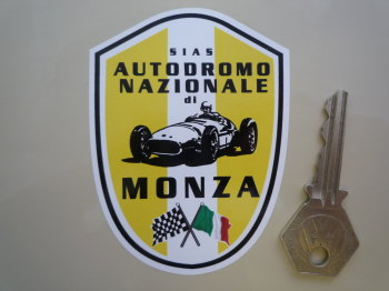 "Monza Autodromo Nazionale Shield Sticker. 3.5""."