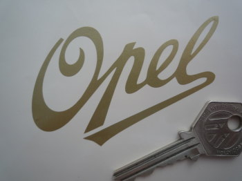 "Opel Script Text Cut Vinyl Sticker. 3.5""."