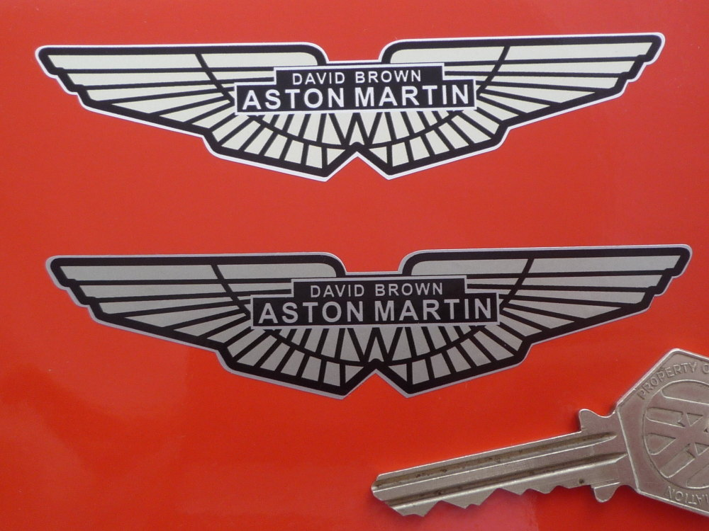 "David Brown Aston Martin Winged Logo Sticker. 4""."