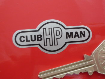 """Griffin Clubman HP Black & Silver Helmet Sticker. 2.25""""."""