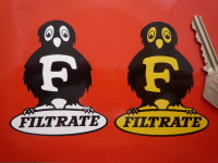 "Filtrate Owl Logo Sticker. 2"", 3"" or 4""."