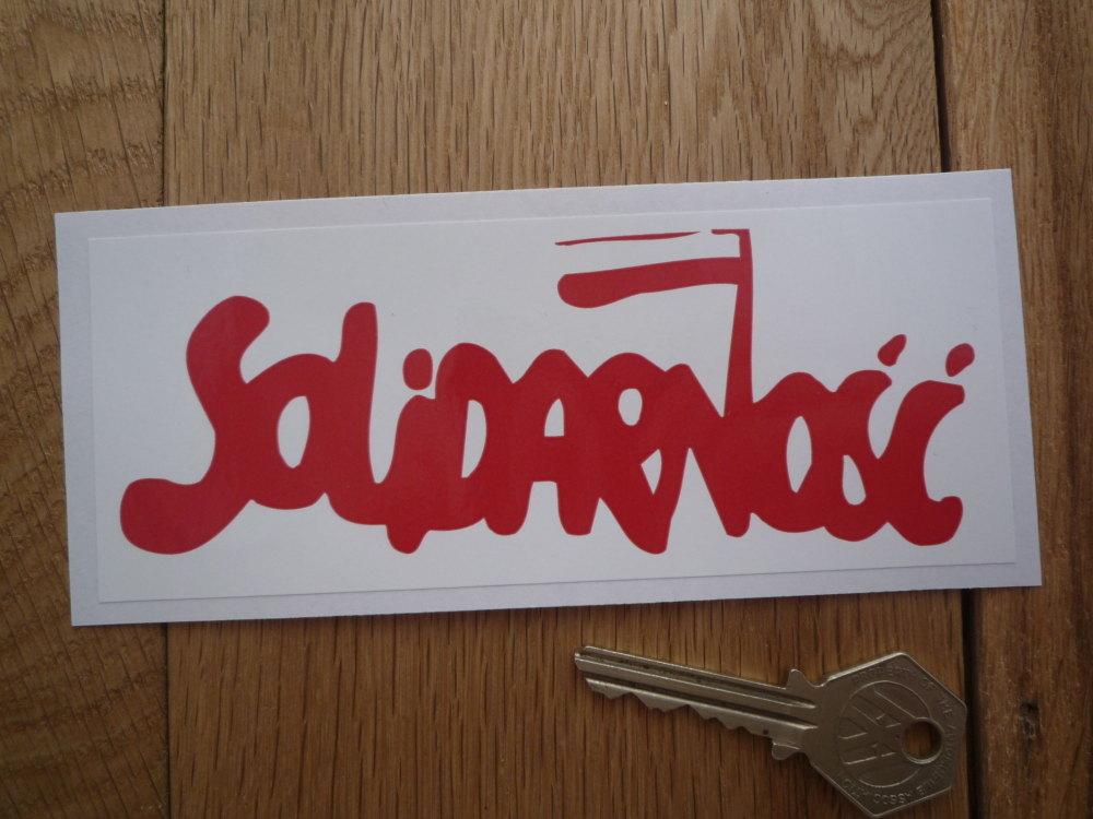 "Solidarnosc (Solidarity) Polish Trade Union Sticker. 5.75""."