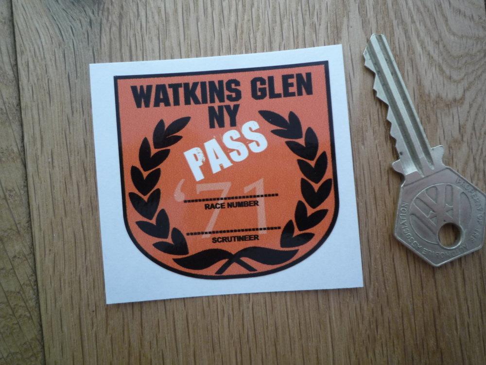 "Watkins Glen New York 1971 Scrutineer Passed Racing Sticker. 2.25""."