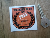 Watkins Glen New York 1971 Scrutineer Passed Racing Sticker. 2.25