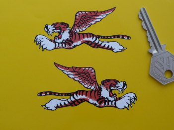 "Flying Tiger Stickers. 3"", 4"", 6"" or 10"" Pairs."