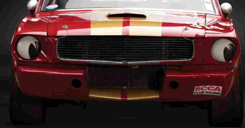 Race Car Headlight Eyes False Headlamp Moon Style Stickers. 145mm Pair.