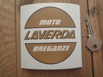 "Laverda Moto Breganze Circular Window Sticker. 4""."