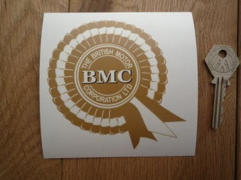 "BMC British Motor Corporation Rosette Window Sticker. 4""."