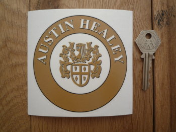 "Austin Healey Circular Window Sticker. 4""."