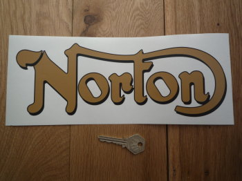 "Norton Script Style Shaped Window Sticker. 5.75"" or 11""."